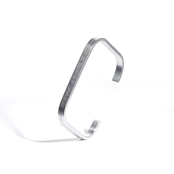 Bracelet made from a metal block silver jewelry