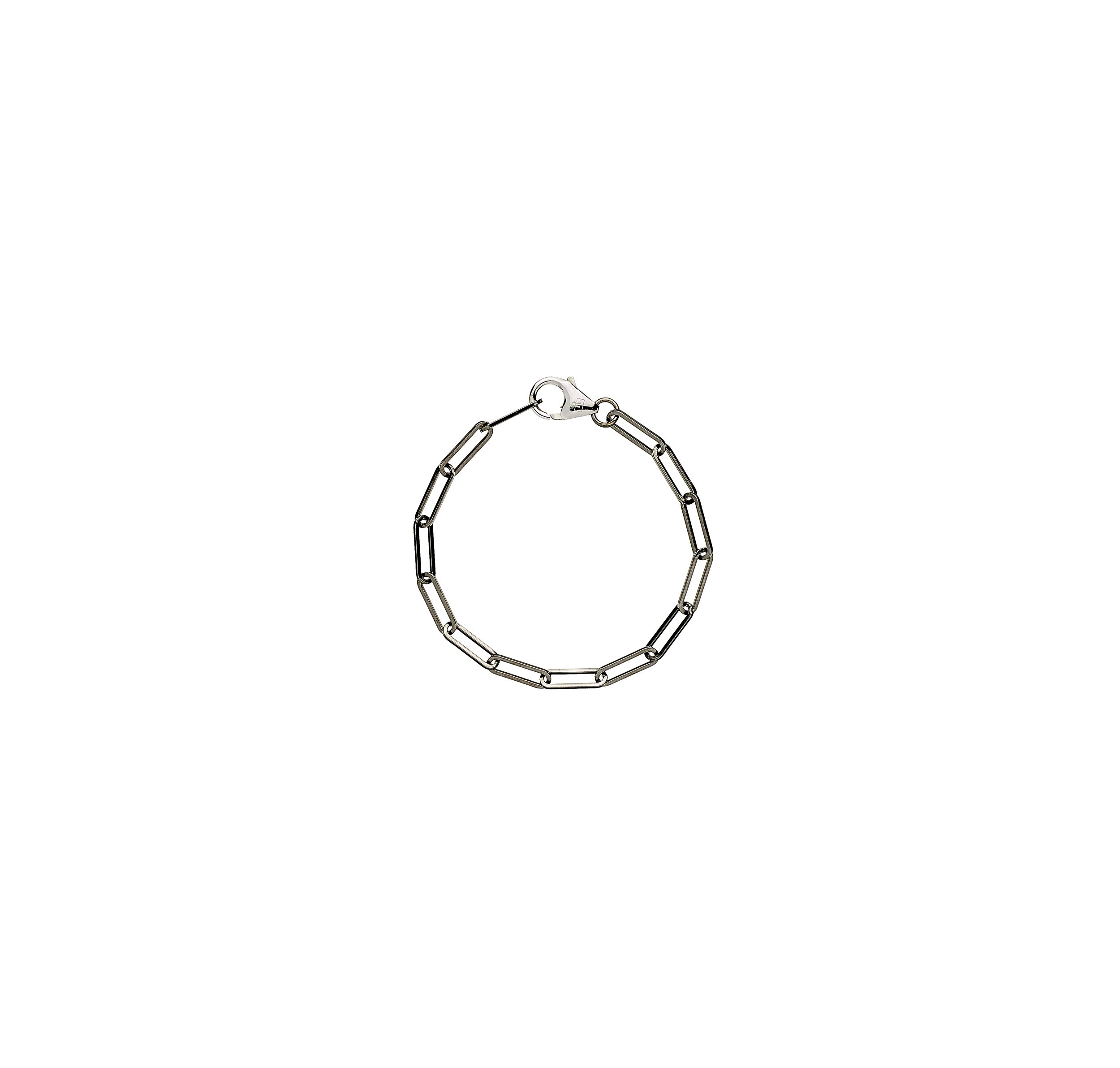 solid 925 Sterling silver and black ruthenium chain luxury bracelet from Regalia Black Logo collection